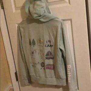 Butter camp theme sweat jacket